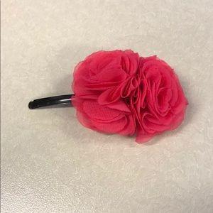 J crew pink flower hair clip